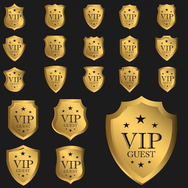 Luksusowy Znaczek Gościa Vip Premium Wektorów