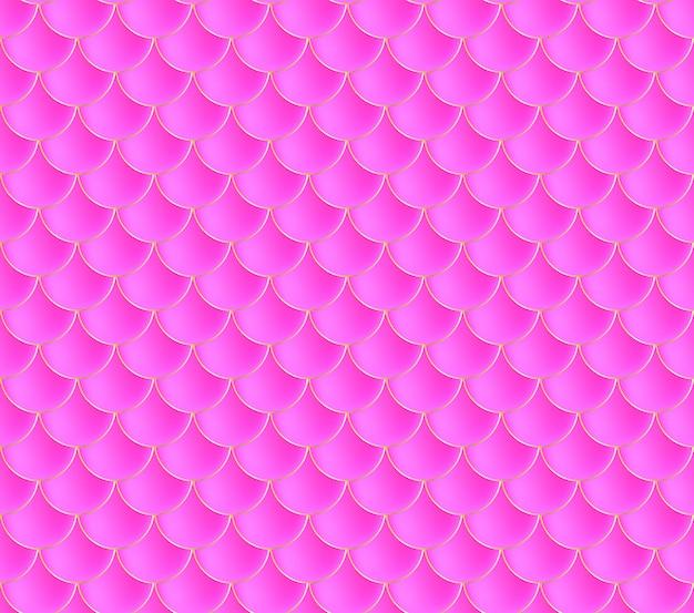 Łuski Syrenki. Fish Squama. Różowy Wzór. Kolorowa Ilustracja. Akwarele Tła. Druk Skali. Premium Wektorów