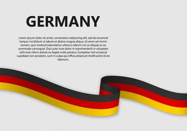 Macha Flagą Niemiec Sztandar Premium Wektorów