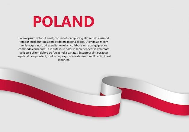 Macha Flagą Polski Bandery Premium Wektorów