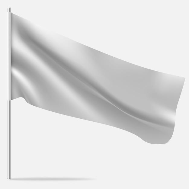 Macha Pustą Flagą Na Maszcie. Premium Wektorów