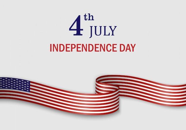 Machać Flagą Stanów Zjednoczonych Ameryki Premium Wektorów
