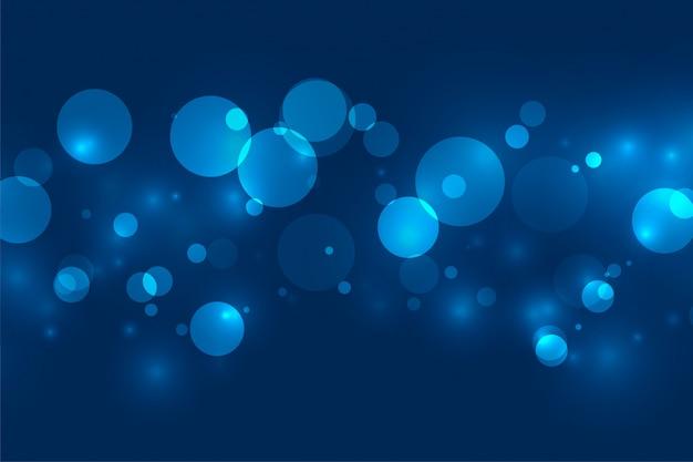 Magiczny Niebieski Bokeh Migotanie światła Tło Darmowych Wektorów