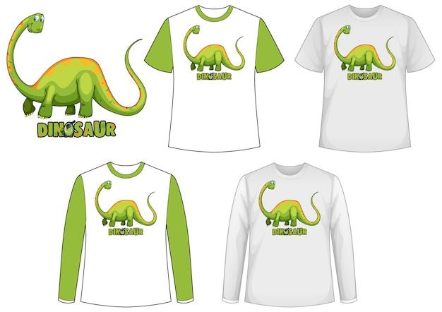 Makieta Koszuli Z Postacią Z Kreskówki Dinozaura Darmowych Wektorów