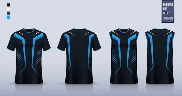 Makieta Koszulki, Projekt Szablonu Koszulki Sportowej Na Koszulkę Piłkarską Premium Wektorów