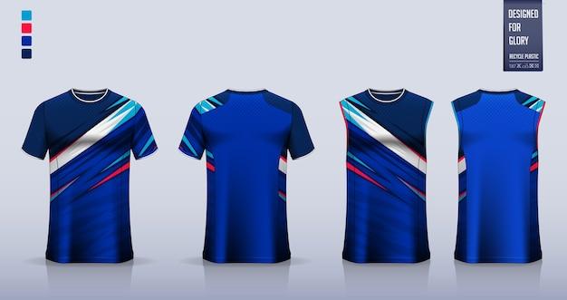 Makieta Koszulki. Projekt Szablonu Koszulki Sportowej. Premium Wektorów