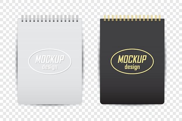 Makieta Notebooka W Dwóch Kolorach Z Cieniem Na Przezroczystym Tle Premium Wektorów