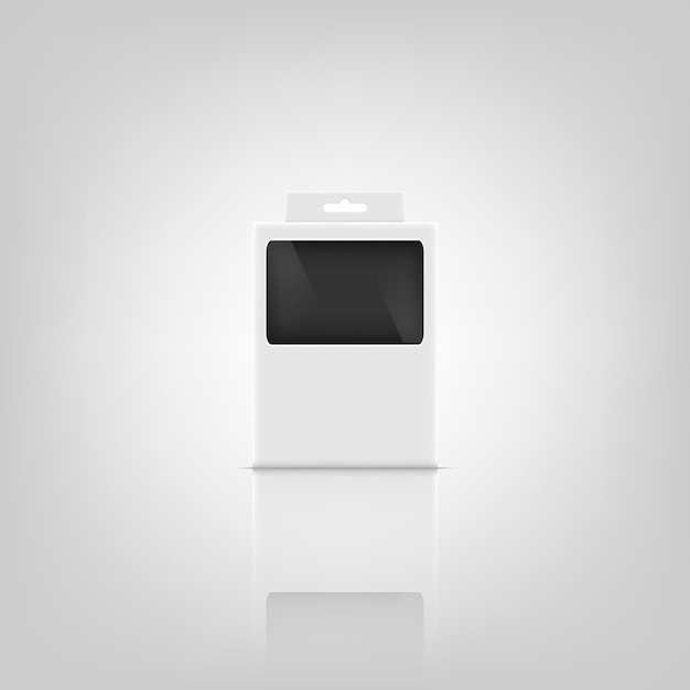Makieta pakietu 3d. Premium Wektorów