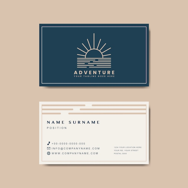Makieta premium business card design Darmowych Wektorów