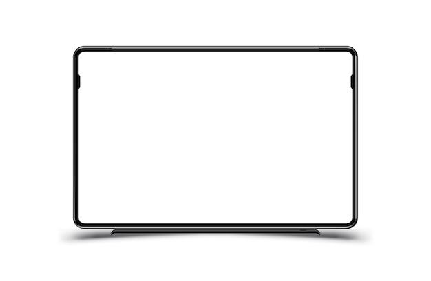 Makieta Realistycznego Czarnego Monitora Telewizyjnego Premium Wektorów