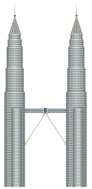 Malezja Petronas Kuala Lumpur Premium Wektorów