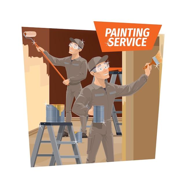 Malowanie ścian I Lakierowanie Drewna, Serwis Premium Wektorów