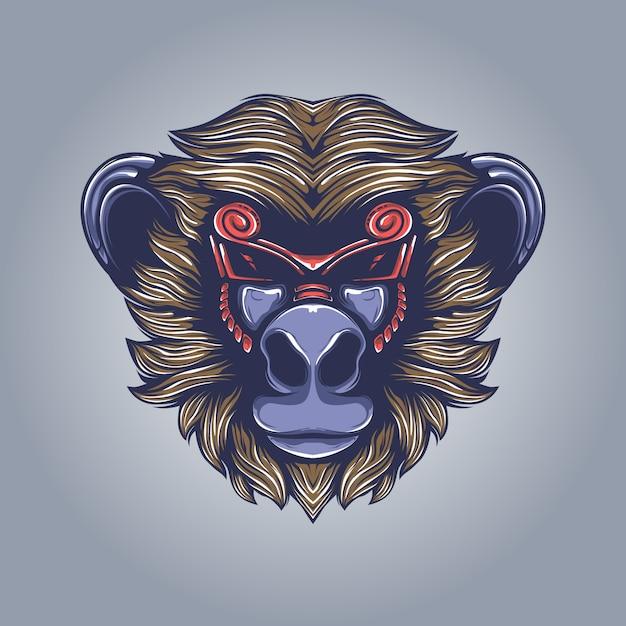 Małpa Grafika Ilustracja Premium Wektorów