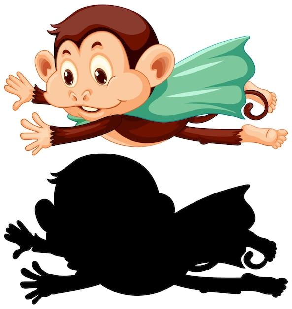 Małpa Z Sylwetką Darmowych Wektorów