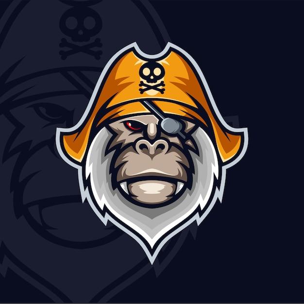 Małpi Piraci Premium Wektorów