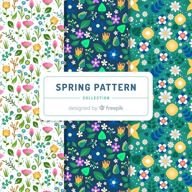 Malutkie kwiaty wiosenny wzór Darmowych Wektorów