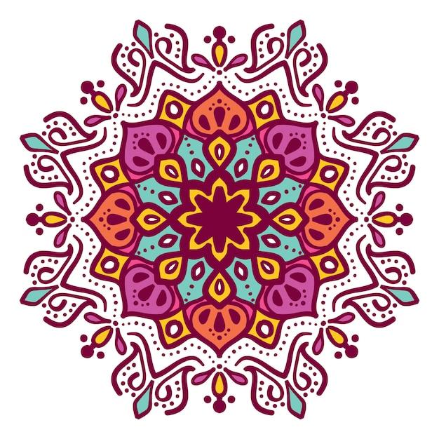 Mandala Ilustracja Kwiatowy Wektor Wzór Premium Wektorów
