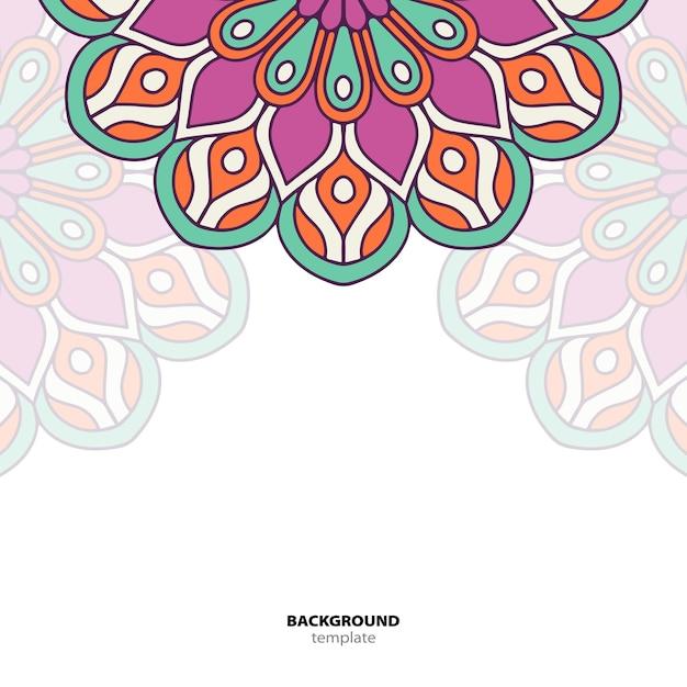 Mandala. Okrągły Ornament Ozdoba. Etniczne Tło Orientalne Premium Wektorów