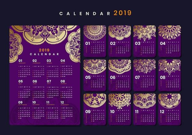 Mandat makieta kalendarza Darmowych Wektorów