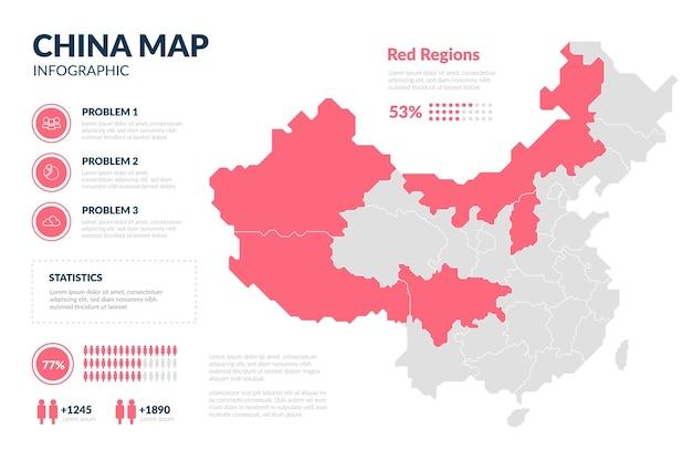 Mapa Chin Plansza Szablon Premium Wektorów