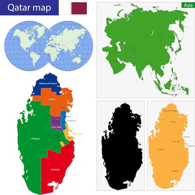 Mapa Kataru Premium Wektor