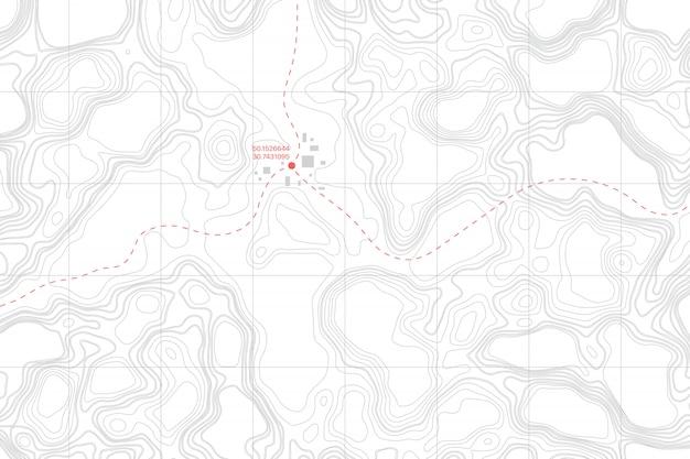 Mapa Konturowa Topografii Kłamstwa Ziemi Premium Wektorów