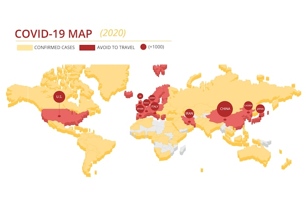 Mapa Kontynentów Wirusa Koronawirusa Darmowych Wektorów