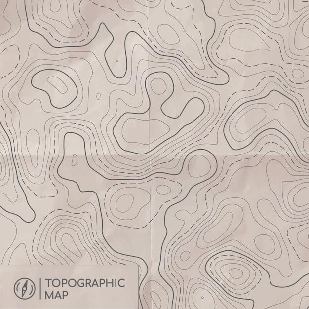 Mapa linii topograficznej. Premium Wektorów