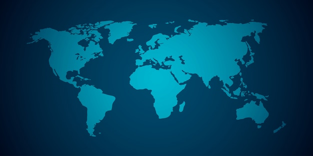 Mapa świata wektor Premium Wektorów