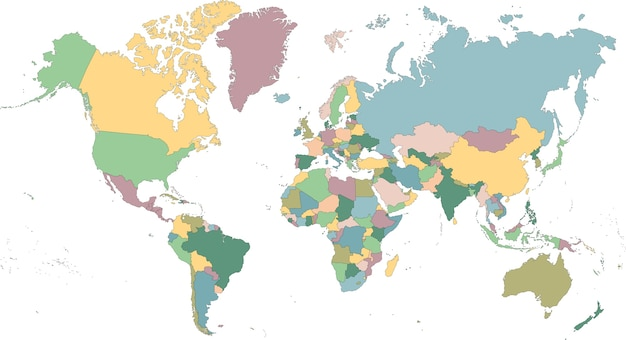 Mapa świata Premium Wektorów