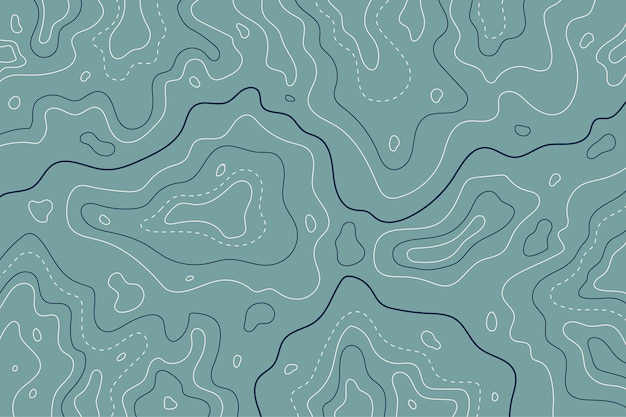 Mapa Topograficzna Linie Konturowe Odcienie Niebieskiego Darmowych Wektorów