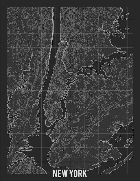 Mapa Topograficzna Nowego Jorku Darmowych Wektorów