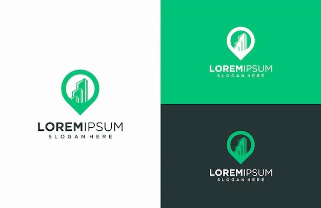 Mapy Budynków I Logo, Ilustracje Wektorowe Budynków I Kombinacje Map Premium Wektorów