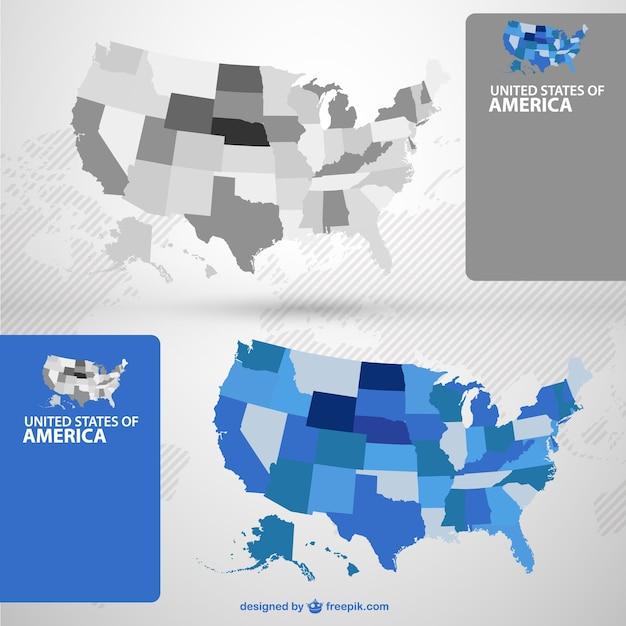 Mapy Wektorowe Usa Darmowych Wektorów