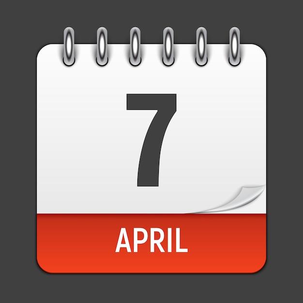 Marcowy kalendarz codzienna ikona Premium Wektorów