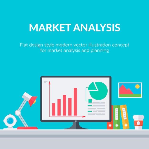 Marketing cyfrowy i analityka Darmowych Wektorów