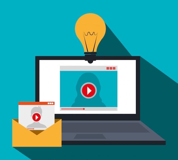 Marketing cyfrowy i e-commerce Darmowych Wektorów