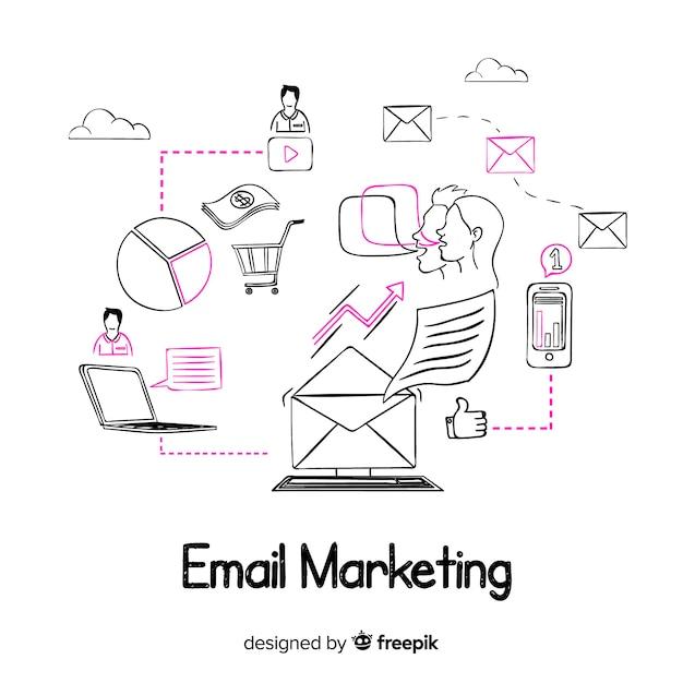 Marketing e-mailowy Darmowych Wektorów