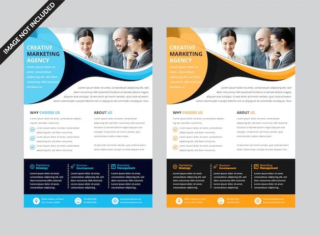 Marketingowy Szablon Ulotki Marketingowej Premium Wektorów