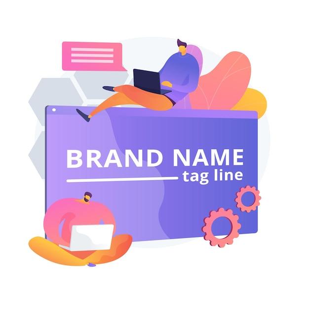 Markowa Innowacja. Zespół Marketerów, Branding Korporacyjny, Praca Zespołowa Projektantów. Element Projektu Tworzenia I Rozwoju Tożsamości Firmy. Darmowych Wektorów