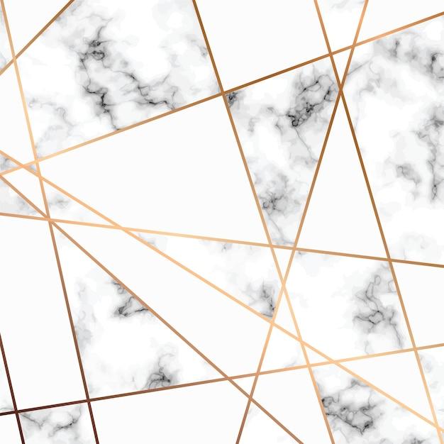 Marmurowy Wzór Ze Złotymi Geometrycznymi Liniami, Czarno-biała Marmurkowa Powierzchnia Premium Wektorów