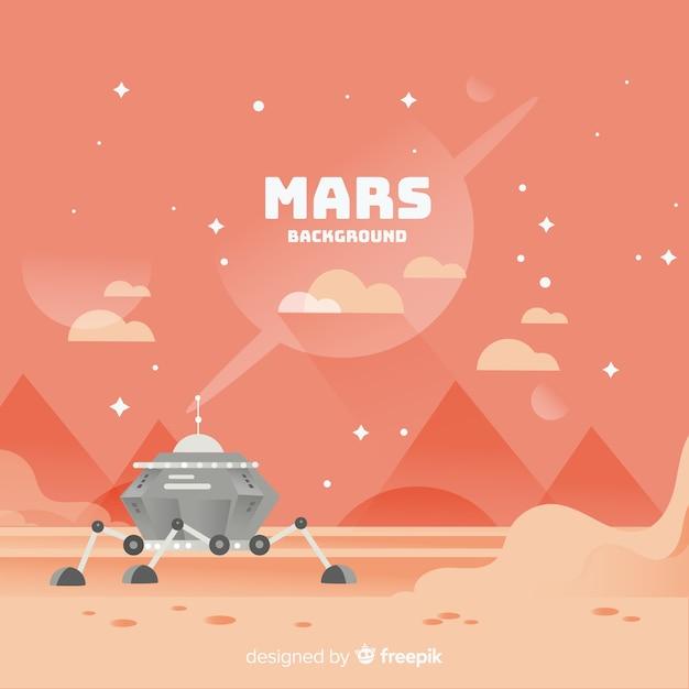 Mars tło krajobraz z płaska konstrukcja Darmowych Wektorów