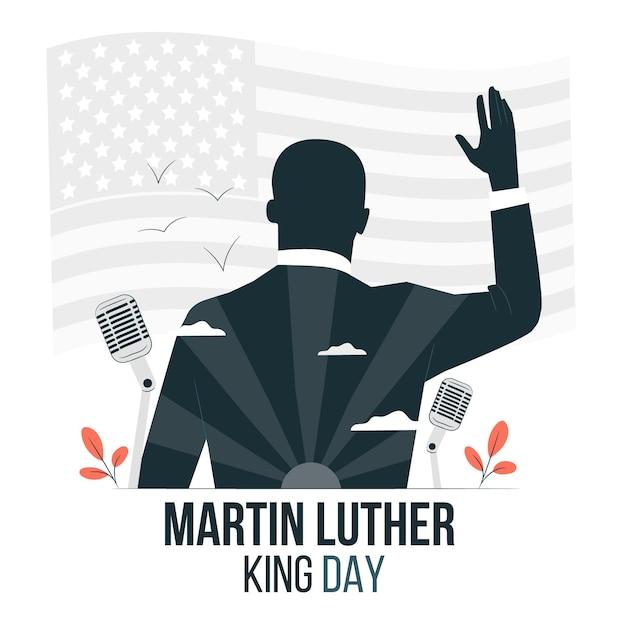 Martin Luther King Day Ilustracja Koncepcja Darmowych Wektorów
