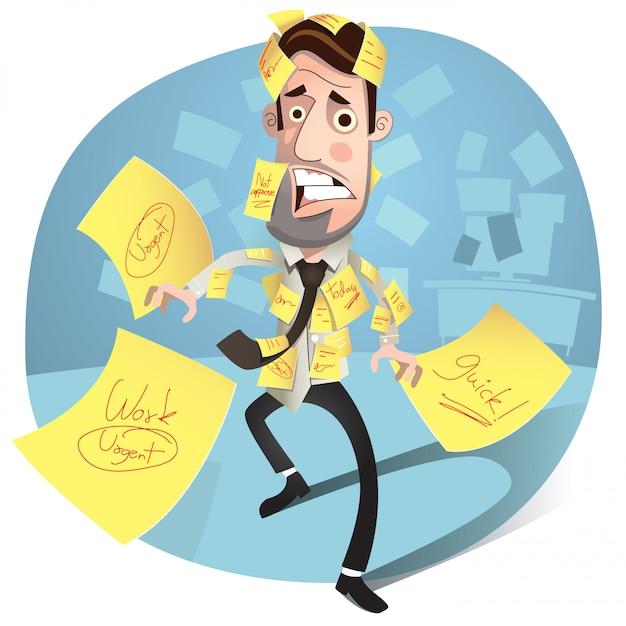 Martwi się biznesmen Premium Wektorów
