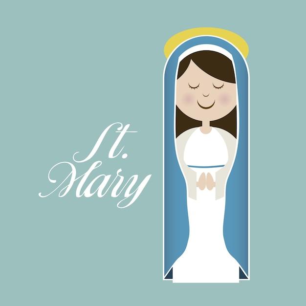 Maryja Dziewica Premium Wektorów