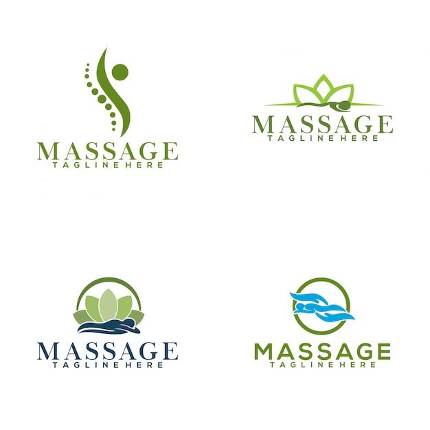 Masaż Logo Premium Wektorów