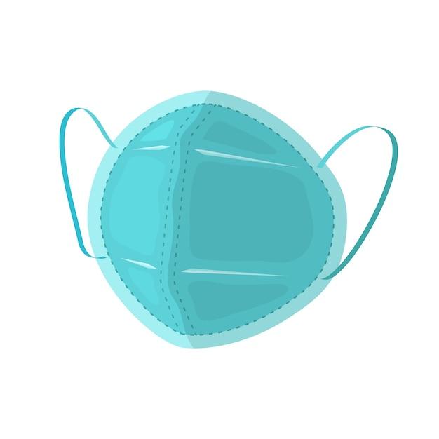 Maska Chirurgiczna Z Gumowymi Paskami Na Uszy, Płaska Darmowych Wektorów