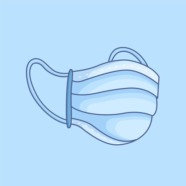 Maska Medyczna Z Gumowymi Paskami Na Uszy Darmowych Wektorów