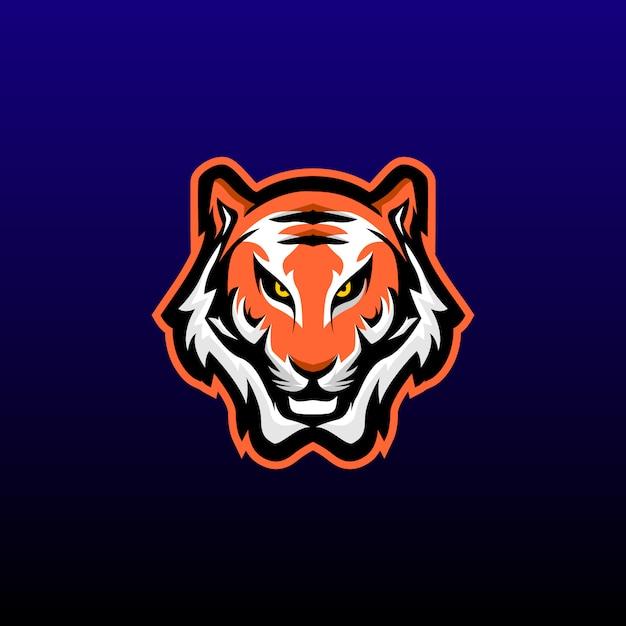 Maskotka Do Gry W Głowę Tygrysa. Projektowanie Logo Tiger Esports. Ilustracji Wektorowych Premium Wektorów