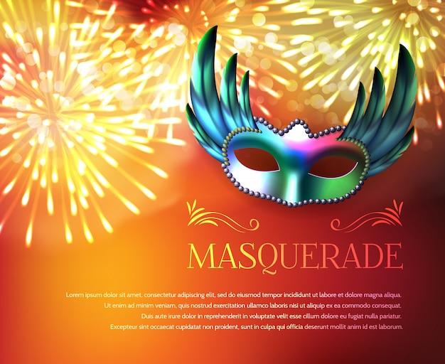 Masquerade fireworks display poster Darmowych Wektorów